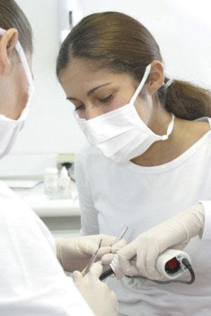 Dental Assistant at Work